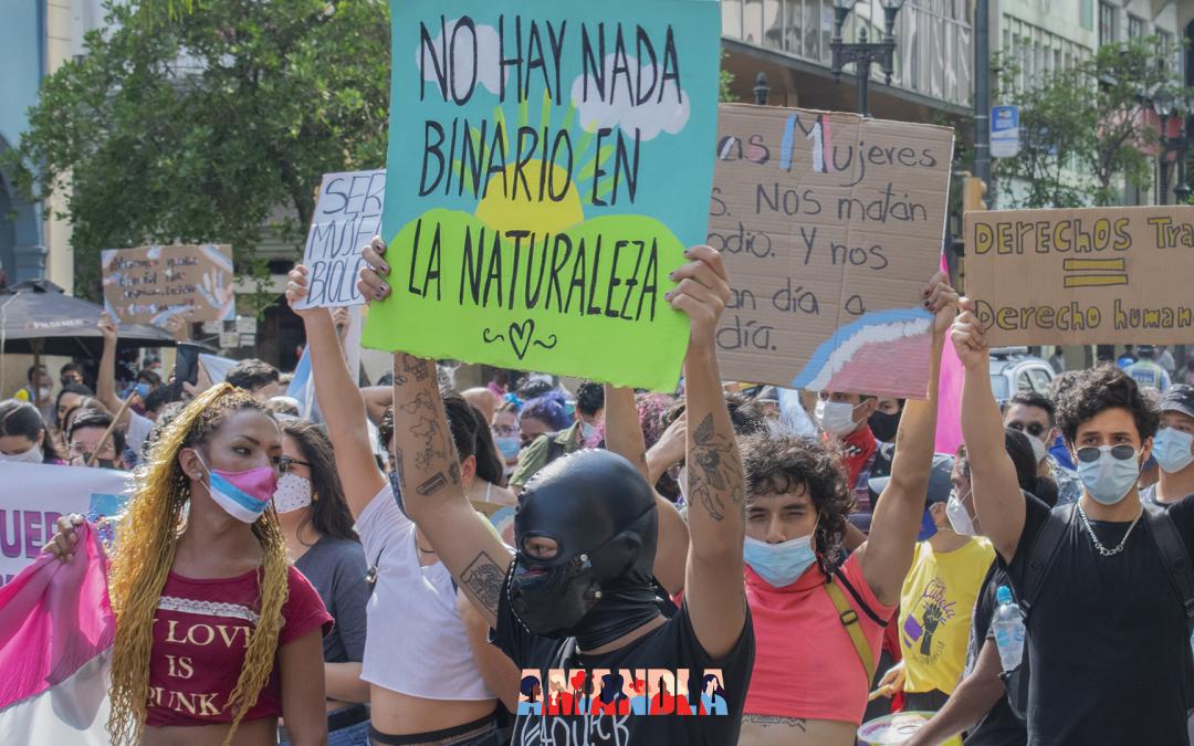 Memoria y Primera Marcha Nacional Trans en Ecuador